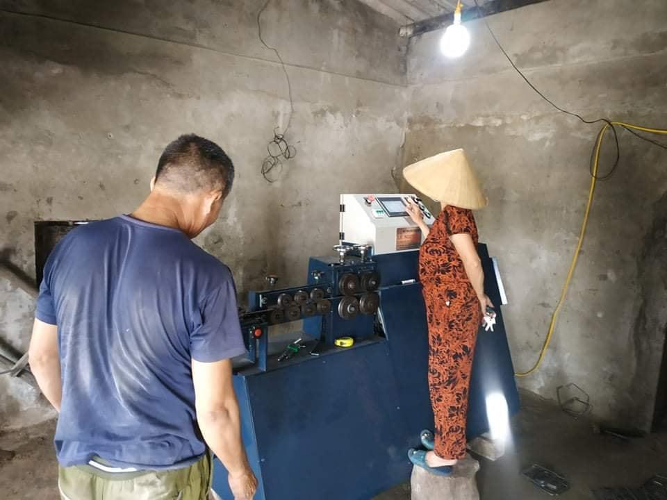 Máy bẻ đai tự động xây dựng tại Hà Tĩnh